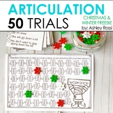 Articulation Trials for CHRISTMAS & WINTER: 50 Challenge FREEBIE!