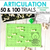 Articulation Trials for Halloween: 50 & 100 FREEBIE!