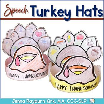 Articulation Turkey Hat: 100 trial No Prep Thanksgiving Craft