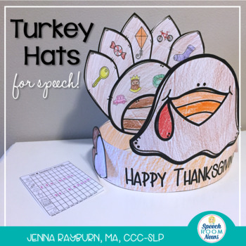 Articulation Turkey Hat: 100 trial No Prep Thanksgiving Craft
