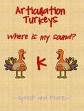 Articulation Turkey K Freebie
