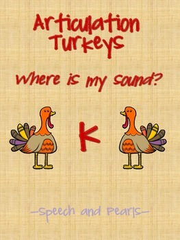 Articulation Turkey K Freebie
