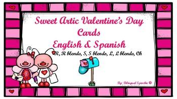 Articulation Valentine's Day Cards- Spanish & English!!!