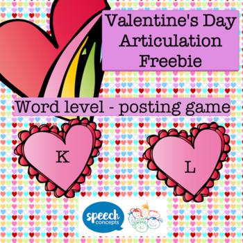 Articulation - Valentine's Day Freebie k and l