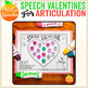 Articulation Valentines for Speech Therapy