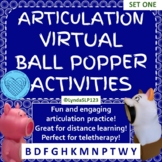 Articulation Virtual Ball Popper SET ONE Interactive PowerPoint