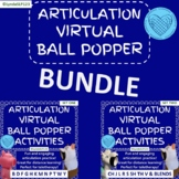 Articulation Virtual Ball Poppers BUNDLE   Distance Learning