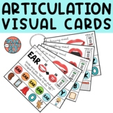 Articulation Visual Cue Cards Binder Ring for Speech Therapy