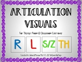 Articulation Visuals for Therapy Room and Classroom Carryover