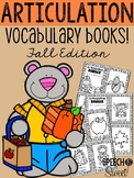 Articulation Vocabulary Books: Fall Edition
