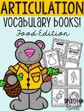 Articulation Vocabulary Books: Food Edition