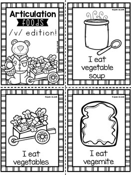 Articulation Vocabulary Books: Food Edition