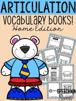 Articulation Vocabulary Books: Home Edition