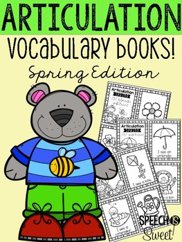 Articulation Vocabulary Books: Spring Edition