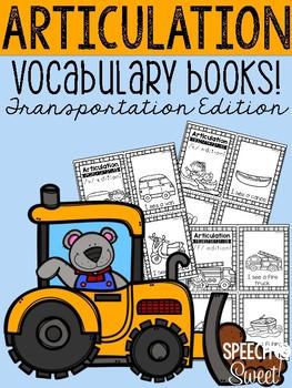 Articulation Vocabulary Books: Transportation Edition