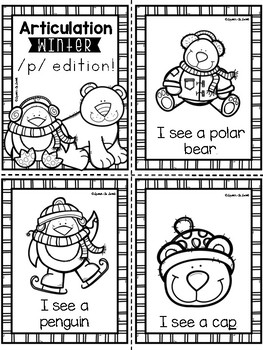 Articulation Vocabulary Books: Winter Edition