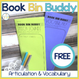 Articulation & Vocabulary Carryover   Book Bin Buddy   Push-In Speech Therapy