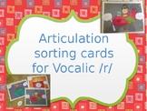 Articulation Vocalic /r/ Sort ar, or, er, ire, ear, air