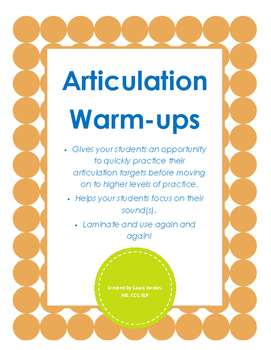 Articulation Warm-ups
