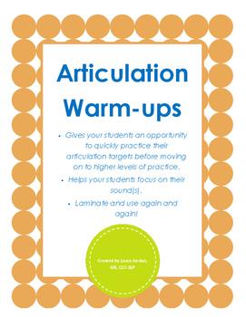 Articulation Warm-ups