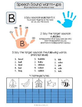Articulation Warm-ups - Early Sounds
