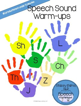 Articulation Warm-ups - Later developing sounds