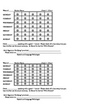 Articulation Weekly Home Practice Chart