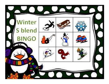 Articulation Winter S blend Bingo