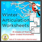 Articulation Winter Speech Therapy Worksheets -Data Friendly