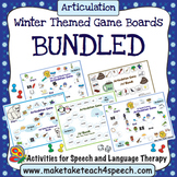 Articulation - Winter Themed Game Boards Bundle