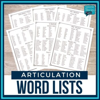 No Prep Articulation Word Lists - 22 Sounds Lists & Monthly Themed Lists