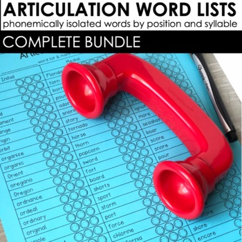 Articulation Word Lists | Speech Therapy Homework | Distance Learning