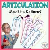 Articulation Word Lists   Articulation Bookmarks