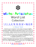 Articulation Word Lists - S, R, L, TH, K, G, SH, CH & DZ - CHRISTMAS THEME