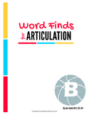 Articulation Word Search - B Sound