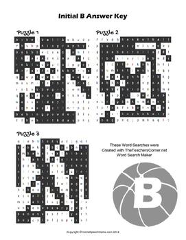 Articulation Word Search - B Sound