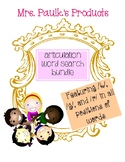 Articulation Word Search Bundle- K, G, and R