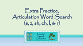 Articulation Word Search Bundle (s, z, sh, ch, l, & r)