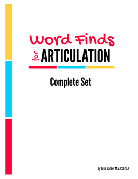 Articulation Word Search - Complete Sound Set