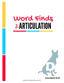 Articulation Word Search - D Sound
