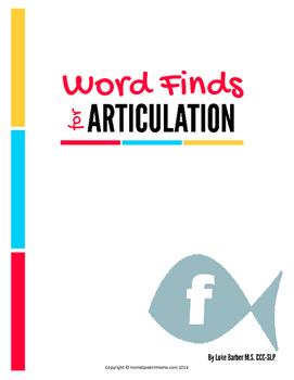 Articulation Word Search - F Sound