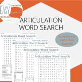 Articulation Word Search No-Prep Bundle- 84 Puzzles!