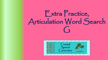 Articulation Word Search Puzzle (g)
