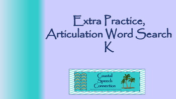 Articulation Word Search Puzzle (k)