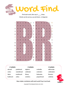 Articulation Word Search - R & R Blend Sounds