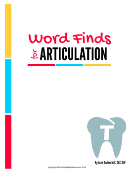 Articulation Word Search - T Sound