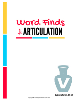 Articulation Word Search - V Sound