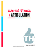 Articulation Word Search - Voiceless TH Sound