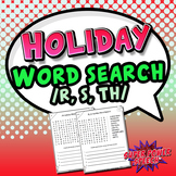 Articulation Word Search for the Holidays