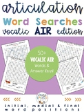 Articulation Activities For R - Vocalic AIR Word Searches (all word positions)